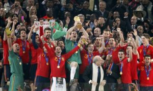 selección española celebra mundial